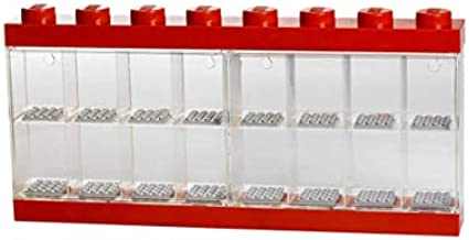 LEGO Minifigure 16 Display Case, Large, Red