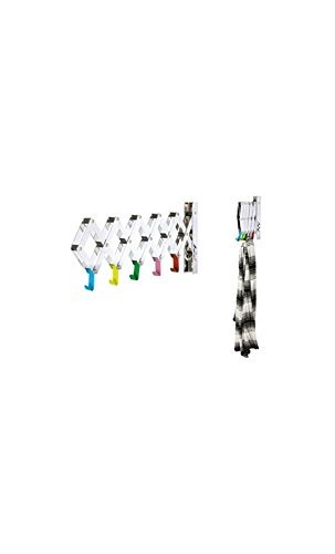 Present time - Porte manteau extensible chrome et multicolore