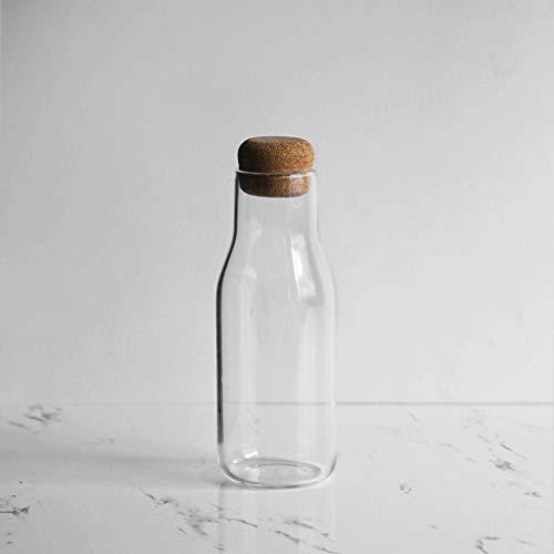 Botes herméticos Recipiente de vidrio de almacenamiento de alimentos, comida cristal del frasco hermético con tapa for su despensa, dispensador de tarros de frutos secos, snacks, cocina Especias Café