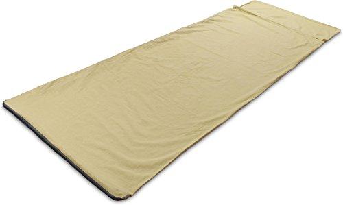 normani Reiseschlafsack Hüttenschlafsack aus 100% Naturfaser Baumwolle mit Kissenfach [210 x 70 cm]