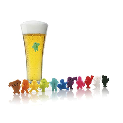 Vacu Vin 1886060 GlassMarker Party People 12er Set