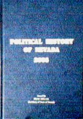 Hardcover Political History of Nevada Book