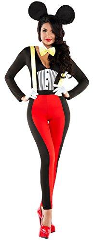Disfraz de Minnie Mouse para mujer, color rojo y negro, para ...
