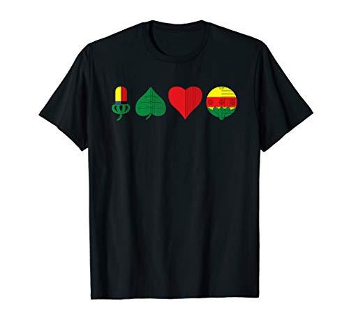 Schafkopf Kartenspiel Farben des bayrischen Blattes T-Shirt