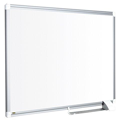 Bi-Office Magnetisches Whiteboard New Generation, Emaillierte Premiumoberfläche, Trocken Abwischbar, Mit Alurahmen Und Stifteablage, Magnettafel, Memoboard, 90 x 60 cm