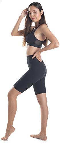 Extra Soft Soft Biker Capri Leggings with High Waist - 20 Colors - Plus (One Size fits Most (XS - XL), Black Bike Shorts)