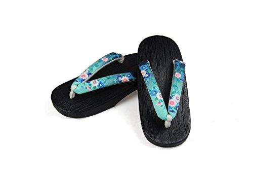 Nuoqi Donna Tradizionale Giapponese Zoccoli Scarpe Sandali Geta Accessori Cosplay (EU36-37(Lunghezza: 24cm), SEM65B)