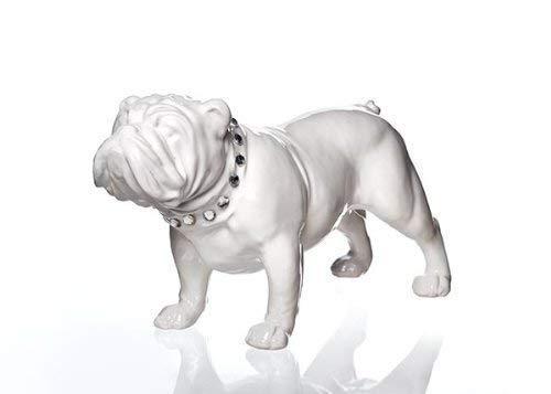 Bulldog debout céramique, moyen, hauteur 16 cm, largeur 11 cm, hauteur 28,5 cm