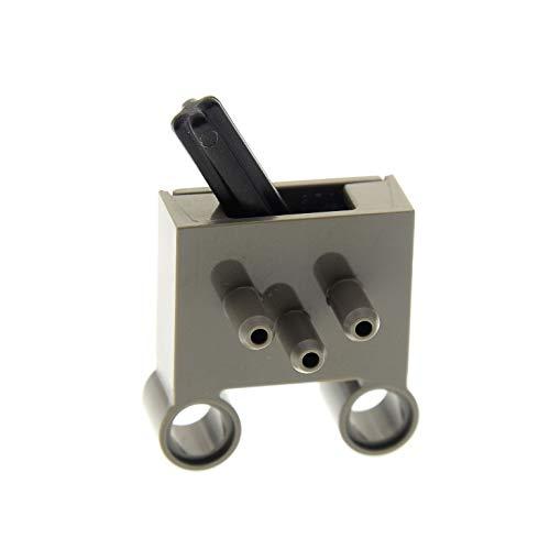 1 x Lego Pneumatik Ventil dunkel grau Technic Pneumatic Schalter 3 Wege Umschaltventil