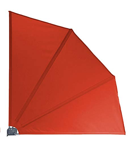 QUICK STAR inkijkbescherming vakken 115 x 115 cm stof balkon scheidingswand windscherm zonwering rood-oranje RAL 2001
