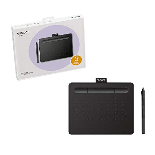 Wacom Ctl4100 Intuos Graphics Drawing Tablet With Software, 7.9' X 6.3', Black, Small