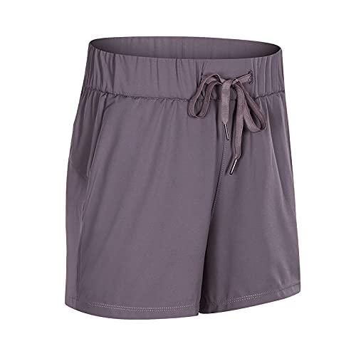 Pantalones Cortos para Mujer Primavera y Verano Nuevos Pantalones Cortos de Yoga de Entrenamiento de glúteos de Cintura Alta Pantalones Cortos Deportivos con cordón Deportivo 4