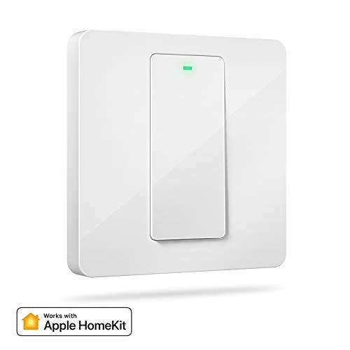 HomeKit Interruptor de Pared Inteligente, 1 Vía, 1 Canal. Wi-Fi Interruptor. Compatible con HomeKit, Siri, Alexa, Google Assistant y SmartThings. meross. (Se Requiere un Cable Neutral)