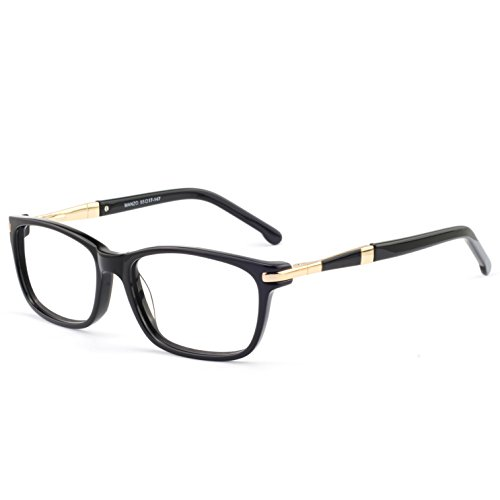 OCCI CHIARI Women Fashion Rectangular Optical Eyewear Frame With Clear Lenses(55mm,Black)