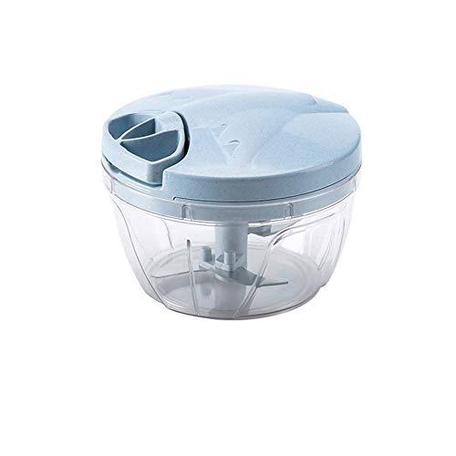 Transformateur portable à tirer, mini trancheuse à oignons et hachoir à ail, multifonction lavable et sans danger pour les aliments - Machine à café - Bleu