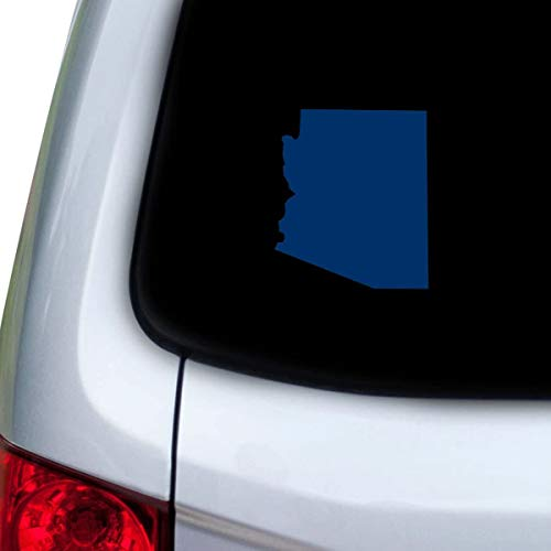 DKISEE Car and Auto Decal Series Arizona AZ Sticker for Windows, Doors, Hoods Laptop Vinyl Decal Navy 8 inch