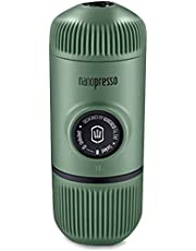 WACACO Nanopresso Portable Espresso Maker Bundled with Protective Case, Upgrade Version of Minipresso, Mini Travel Coffee Machine, Perfect for Camping, Travel and Office (Moss Green)