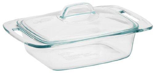 Pyrex Easy Grab - Cacerola de cristal para hornear con tapa de cristal