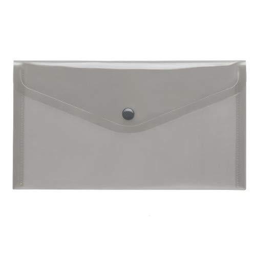 PP-Transparent-Umschlag, LangDIN, Druckknopf, Transparent, rauch, 10 Stück