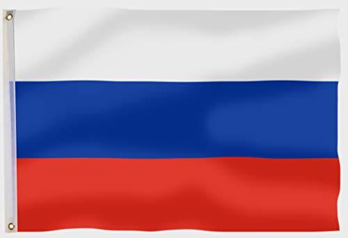 aricona Russland Flagge - Russische Flagge 90x150 cm mit Messing-Ösen - Wetterfeste Fahne für Fahnenmast - 100% Polyester