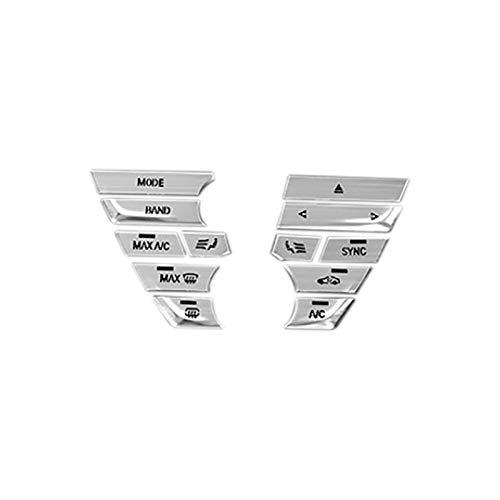 zhuzhu Ajuste para 5 Series G38 G30 6GT F10 Control Central Aire Acondicionado CD Panel Cubierto DE Cubierto PALTADOR Etiqueta Ajuste para G01 X3 X4 (Color Name : Silver)