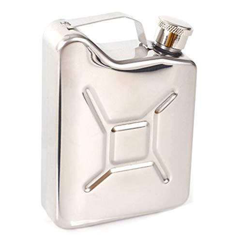 Camisin - Fiaschetta da 5 oz portatile, per whisky, in acciaio, con flagello creativo per liquori di whisky, idea regalo per gli uomini