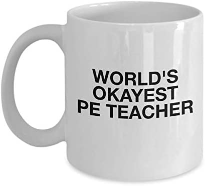 PE Teacher Mug Funny Coffee Tea Cup Novelty Gift for Best Gym Physical Education Health Instructor product image
