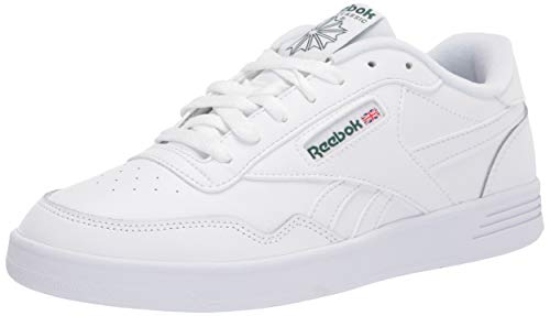 Reebok Men's Club MEMT Casual Sneakers, White/Clover Green, 9.5