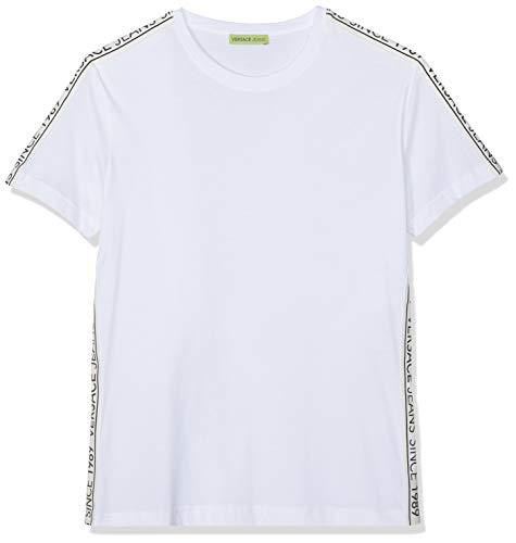 Versace Jeans Couture Herren Man T-Shirt Pullunder, Weiß (Bianco Ottico 003), Small