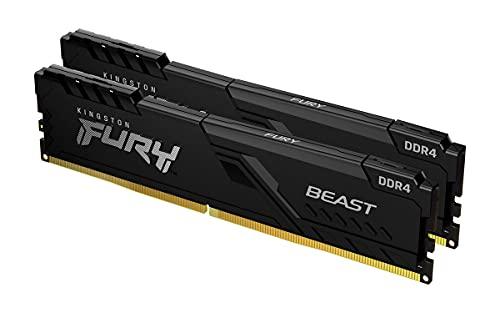 Kingston FURY Beast 64GB (2x32GB) 3200MHz DDR4 CL16 Desktop Speicher Kit mit 2 KF432C16BBK2/64