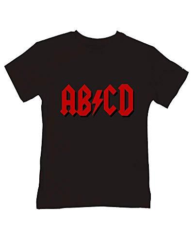 Ice-Tees ABCD - T-shirt humoristique en coton doux pour bébé - Noir - 2-3 ans