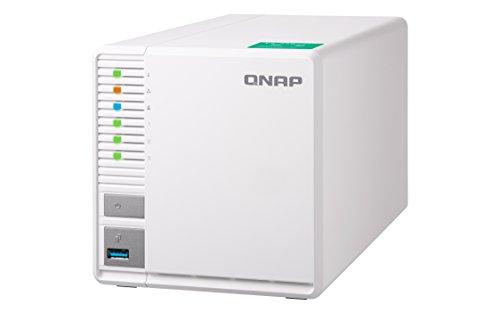 QNAP TS-328 Desktop NAS Gehäuse mit 2 GB DDR4 RAM, Powerful 3-Bay Storage Server