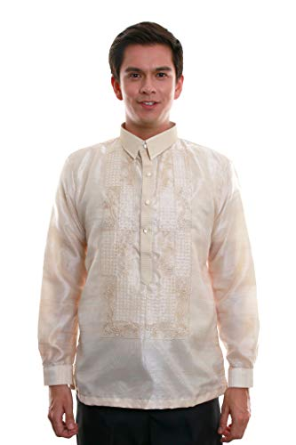 BW Filipino Organza Pina Barong Tagalog with Lining 013 (Small)
