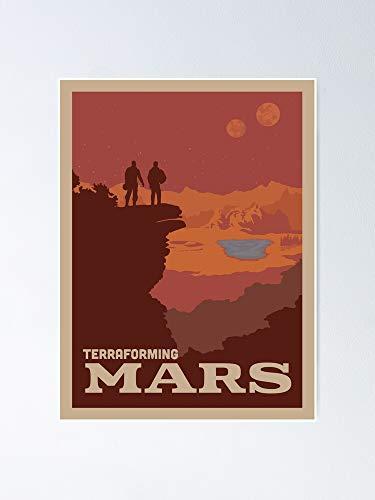 Terraforming Mars Juego de mesa - Estilo minimalista de póster de viaje...