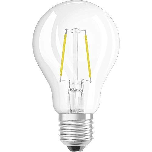Osram Ampoule LED Filament, Forme Classique, Culot E27, 1,2W Equivalent 15W, 220-240V, claire, Blanc Chaud 2700K, Lot de 1 pièce