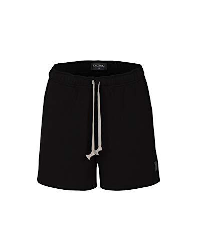 Dilling Pyjama-Shorts für Damen - Bio-Baumwolle Schwarz 42