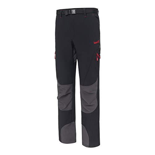 IZAS Baltic, Pantaloni di Montagna Uomo, Nero/Scuro Grigio, M