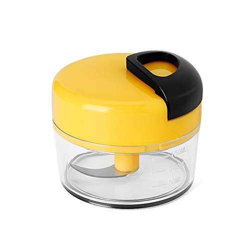 Mini Hélico Robot Culinaire Manuel Pull Chop Broyeur D'aliments Pour Bébés Broyeur De Viande De Coupeur D'oignon D'oignon D'ail