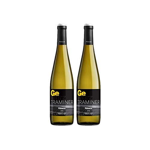 Vino blanco Gewürztraminer Pirineos de 75 cl - D.O. Somontano - Bodegas Barbadillo (Pack de 2 botellas)