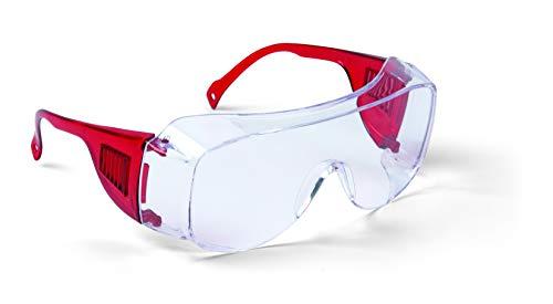 42495, Schutzbrille rot EN 166, VERSAND DURCH AMAZON IST IMMER DER BESTE SCHNELLSTE WEG