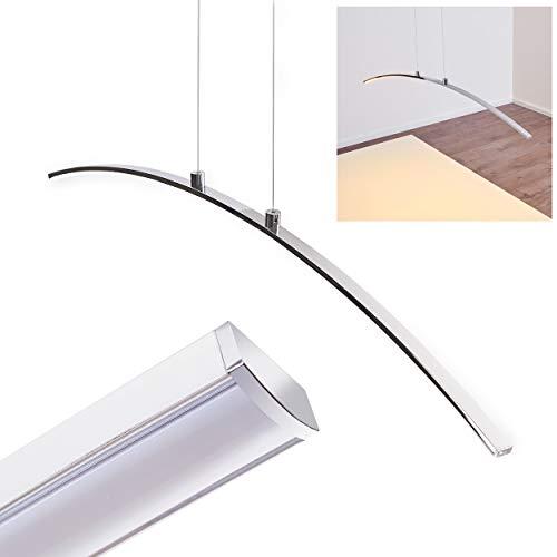Lampada a Sospensione Luce LED- Bilancere Design Minimal Moderno Altezza Regolabile- Sospensione Color Cromo Ideale per Cucina Studio Sala da Pranzo