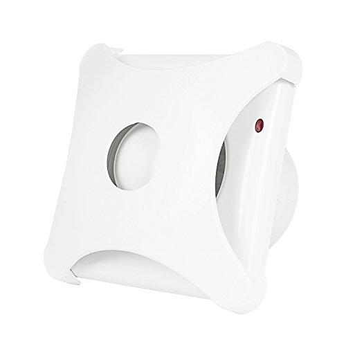 Hon&Guan 4'' Home Ventilation Fan Bathroom Garage Exhaust Fan Window and Wall Mount Fan for Kitchen/Bathroom, Super Silent(Energy-Saving)