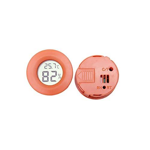 KEECARLY Mini-LCD-Runde Digital-Thermometer-Hygrometer Fridge Freezer Tester Temperatur- und Feuchtigkeitsmessgerät Detector Thermographie Pet Auto Auto (Color : Red)