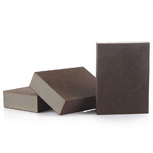 VizGiz 3 Pack Sanding Sponge Block Sponges Blocks Polish Sponge Grinding Furniture Buffing Sandpaper Pad Household Cleaning Non-Scratch Scrub Kitchen Bathroom Car Pot Pan Cleaning Grit Abrasive Brush