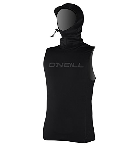 O'Neill Men's Thermo-X Vest w/ Neo Hood, Black, L