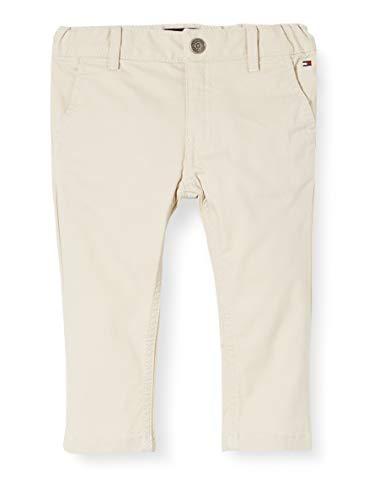 Tommy Hilfiger Essential Slim Chinos Pantalones, Gris (Grey Peg), 98/104 (Talla del Fabricante: 98) para Niños