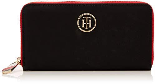 Tommy Hilfiger Damen Poppy Lrg Za Wallet Geldbörse, Schwarz (Black), 11.5x24x31 cm
