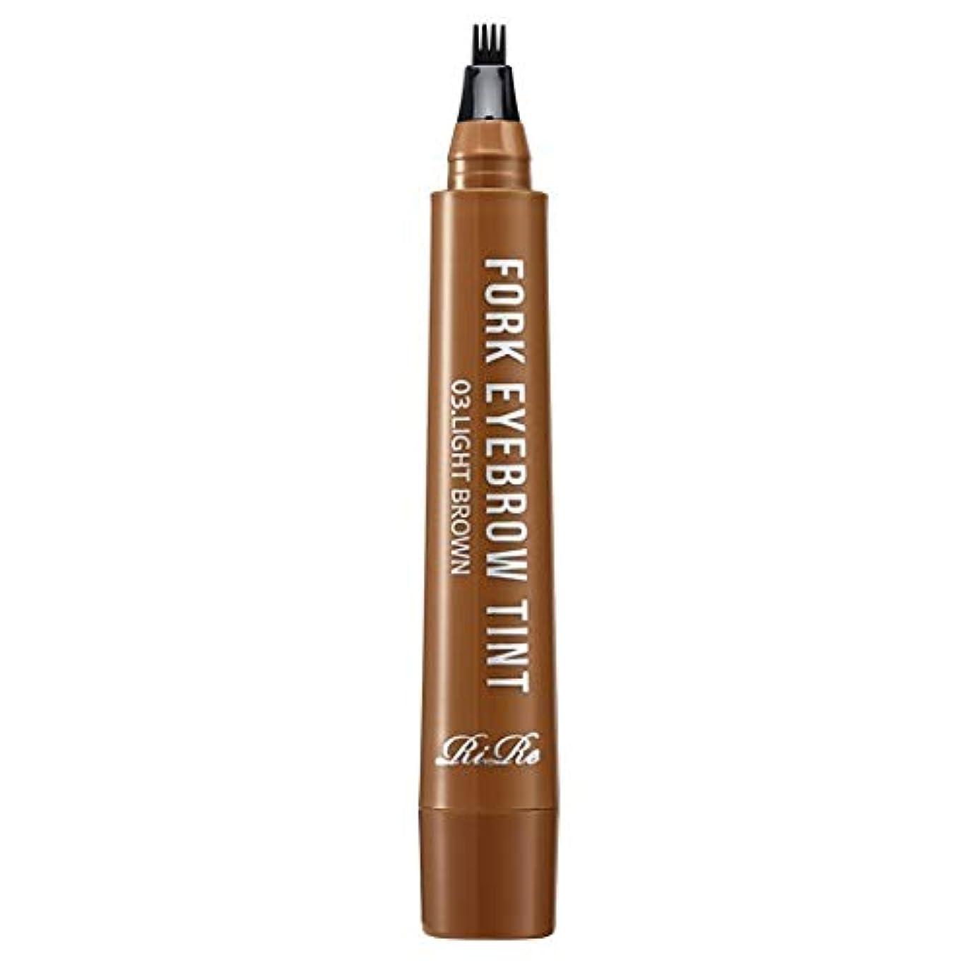 被害者ポークまでRiRe フォーク アイブロウ ティント / Fork Eyebrow Tint / 1回使用で8日持続 (3.ライトブラウン) [並行輸入品]