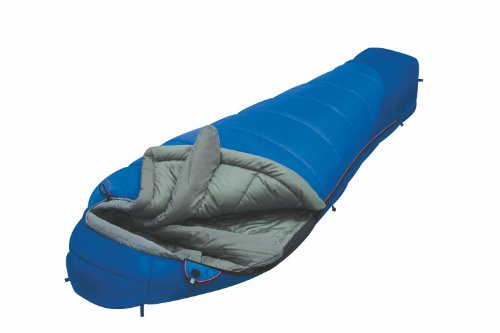 ALEXIKA Camping & Outdoor Schlafsack Mountain Compact, rechte Reißverschluss Mumienschlafsäcke, blau/grau, 210 x 80 x 55 cm