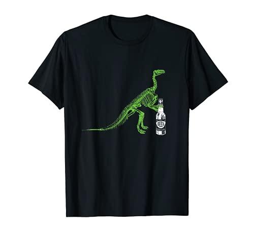 Dinosaurio Craft Botella de cerveza impresionante divertido extraño Camiseta